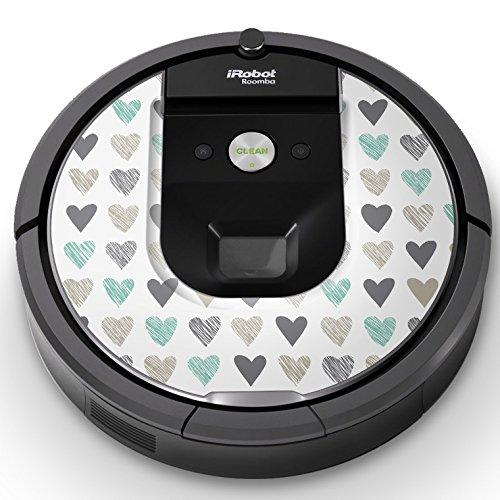 iRobot ルンバ Roomba 専用スキンシール ステッカー 960 980 対応 チェック・ボーダー ハート 模様 006377