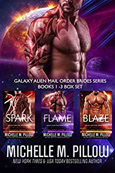 Galaxy Alien Mail Order Brides Series (Books 1-3 Box Set): Qurilixen World Novellas: Intergalactic Dating Agency by [Pillow, Michelle M.]