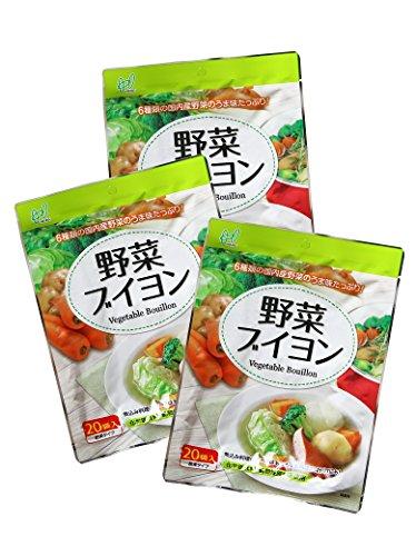 ヘイセイ 野菜ブイヨン(化学調味料無添加) 60袋入り(20袋入×3)