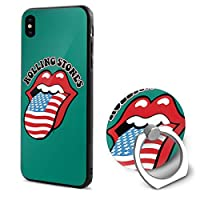 Rolling Stones USA ザ?ローリング?ストーンズ IPhone X ケース リング付き 衝撃防止 スタンド機能 アイフォンXケース 高級感 薄型 携帯カバー
