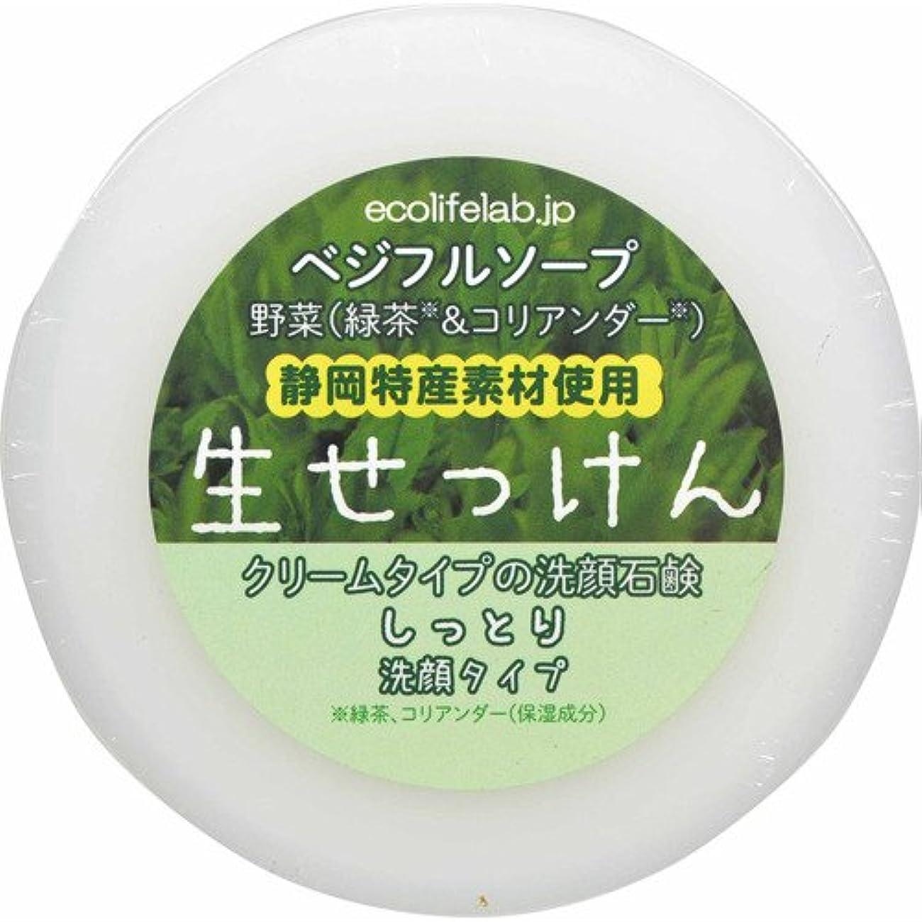 青写真電球リラックスベジフルソープ 生せっけん(野菜) しっとり洗顔タイプ 100g