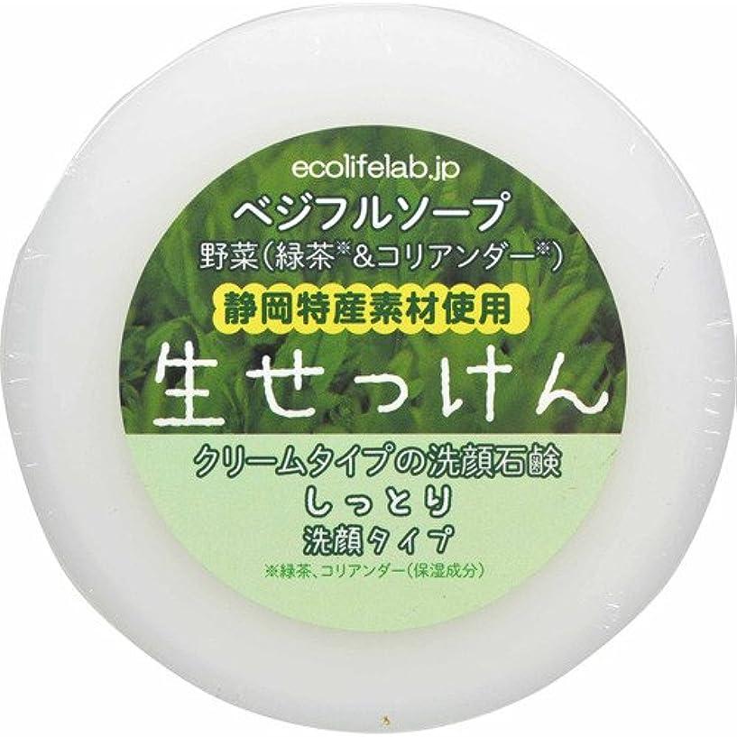 手首砂漠離れてベジフルソープ 生せっけん(野菜) しっとり洗顔タイプ 100g