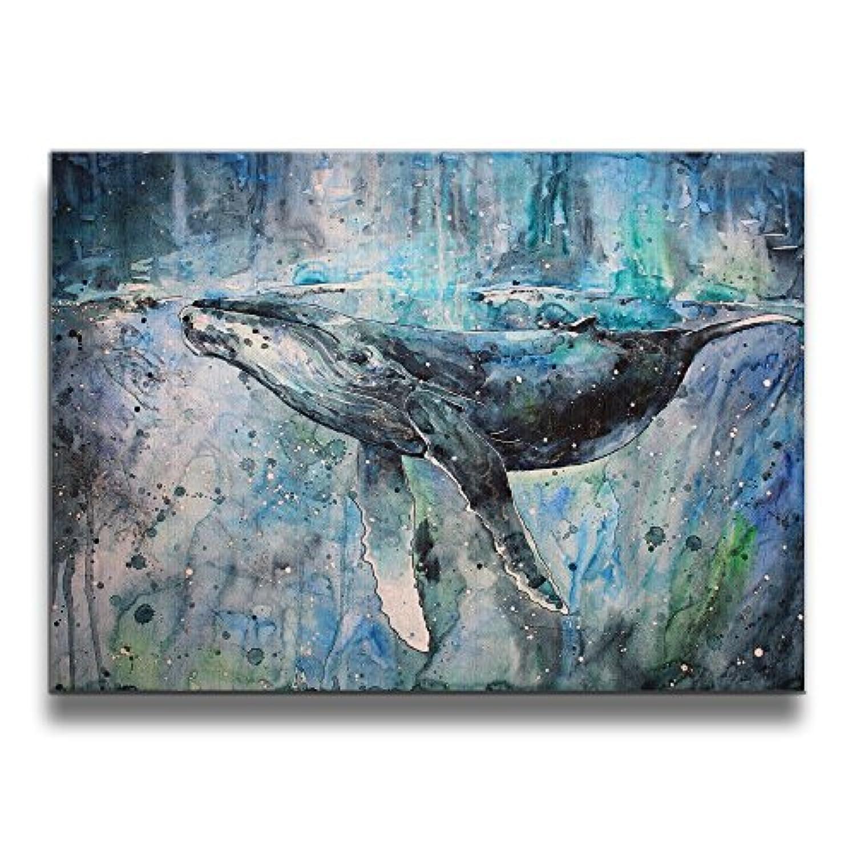 K-Duck クジラ インナー フレームレス装飾画 キャンバスアート 壁画 壁掛け 額縁なし パネル絵 版画