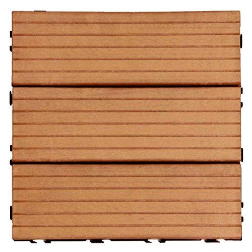 タンスのゲン ウッドパネル 樹脂 27枚セット 2.4平米用 ジョイント式 30×30cm 正方形 Bタイプ:レッドブラウン AM000086 10 【53780】