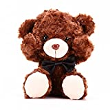 amzmonnsuta 可愛いシャイなベア人形おもちゃ テディベア ラグドール バレンタインデー プレゼント バラベルベット生地 シャイなクマ かわいがるぬいぐるみ