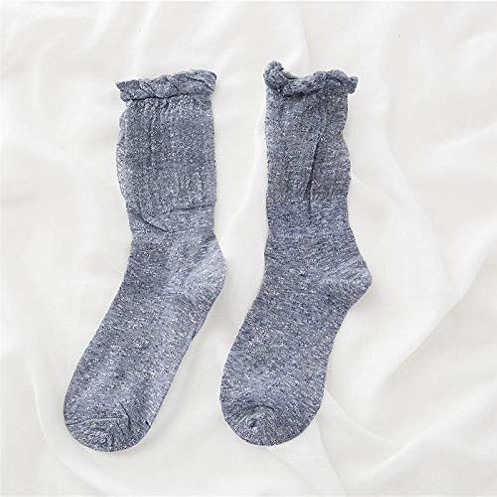 ポーズジャンクション仮装靴下の秋と冬の女性の新しい山の韓国のバブル口ストッキング中空金と銀のシルクの女性の靴下綿の靴下