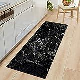 1 PC Anti Slip Kitchen Carpet Welcome Doormat Black White Marble Printed Floor Mat Hallway Portch Rug Door Mats Outdoor