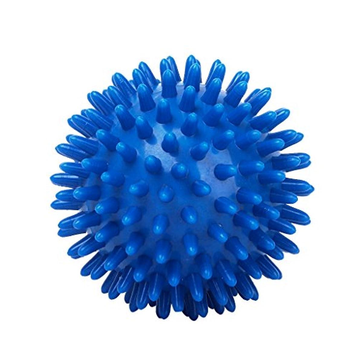 貧しい財布起点便利 小型 マッサージボール 足用 筋肉対応 8cm マッサージ ボール PVC製 ブルー