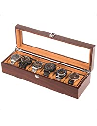 【CIPLEK】高級 腕時計 収納ケース コレクションケース 木製 ブラウン (6本用) CIPLEKオリジナル保証書付き