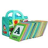 布のおもちゃ 布絵本 英語 知育絵本 無毒無臭 出産祝い 布えほん 柔らかい 収納バッグ付き 持ち運びに便利