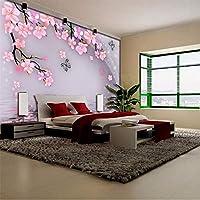 Wuyyii 壁紙壁画のための部屋3 D女の子赤ちゃんの壁の装飾紙蝶桃花コーヒー花の寝室Tv-250X175Cm