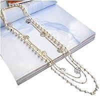 ロング ネックレス 3連 パール 重ねづけ フラワー ゴールド ホワイト レディース ファッション 素敵 美しい きれい アクセサリー