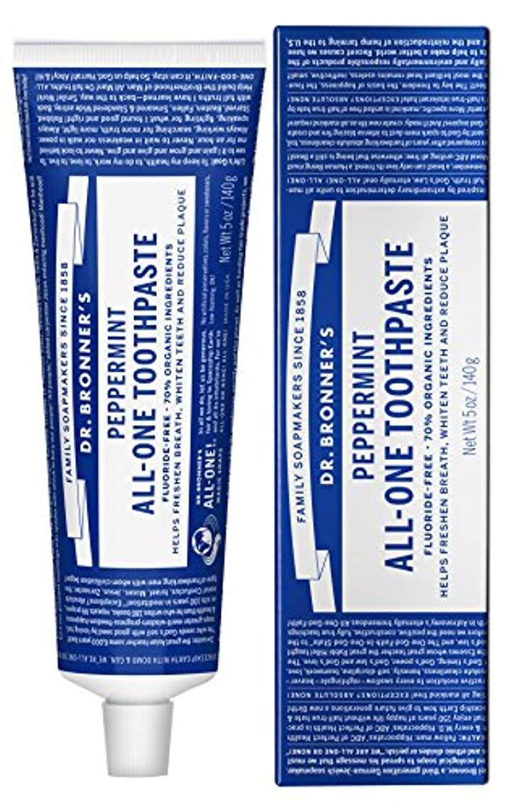場合魅力的偏心ドクターブロナー オールワン トゥースペースト(美白歯磨き粉) 140g 無添加?オーガニック、ココナッツオイル配合 Dr.Bronner's All-One Toothpaste 140g