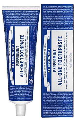 ドクターブロナー オールワン トゥースペースト(美白歯磨き粉) 140g 無添加・オーガニック、ココナッツオイル配合 Dr.Bronner's All-One Toothpaste 140g