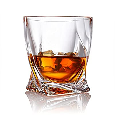 Van Daemon - 'Tasman Twist' Whiskey Glasses - Lead Free Crystal. Set of 2 Tumblers for Liquor. Perfect as a Gift.