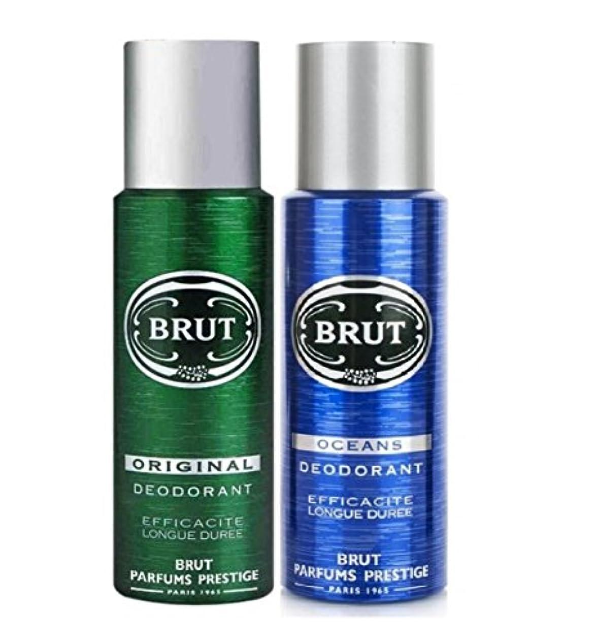 読書有力者名義でBrut Original+Oceans Efficacite Longue Duree Deodorant 200ml(Pack of 2)