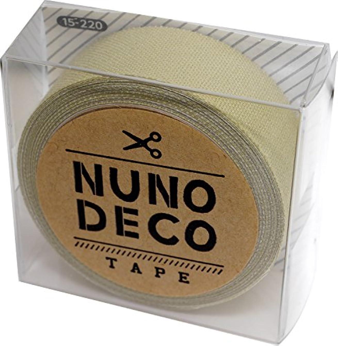 国籍お手入れポケットKAWAGUCHI(カワグチ) NUNO DECO TAPE ヌノデコテープ 1.5cm幅 1.2m巻 ハーブ 15-220