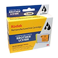 Kodak LC51BK-KD - High Yield - black - remanufactured - ink cartridge ( equivalent to: Brother LC51BK ) - for Brother DCP-130, 330, 350, 540, MFC-230, 3360, 440, 465, 5460, 5860, 665, 685, 8