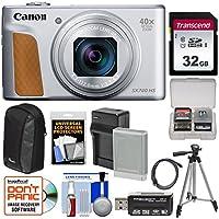 Canon PowerShot SX740 HS Wi-Fi デジタルカメラ (シルバー) 32GB カード+バッテリー&充電器+ケース+三脚キット付き