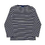 (セントジェームス)SAINT JAMES クルーネックシャツ メリディアン2 5196 メンズ 05.ネイビー×ベージュ L [並行輸入品]