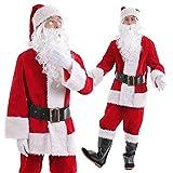 monoii サンタ 衣装 9点セット コスプレ サンタコス サンタクロース コスチューム メンズ 554