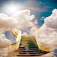 aofoto Heaven Clouds Sky Backdrop Paradise Dreamy Wonderland Angel写真背景DivineユニコーンHoly Belief Pray Faith Photo Studioプロップビニール壁紙大人用Kid Portrait