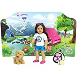 18 Inch Doll Playscene, Reversible Camping and Fashion Runway Scenes Perfect for 18