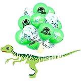Palksky 恐竜 誕生日パーティーデコレーション/恐竜 ハッピーバースデーバナー 恐竜バルーン付き 恐竜パーティー 子供 パーティー 記念品 ベビーシャワー 恐竜 ジャングル ジュラシック 誕生日パーティーデコレーション (16個セット)