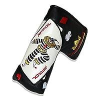 CRAFTSMAN(クラフトマン)ラッキー呼ぶ カッコイイジャック パターカバー ゴルフヘッドカバー ピンタイプ対応 単品1個 (ブラック)