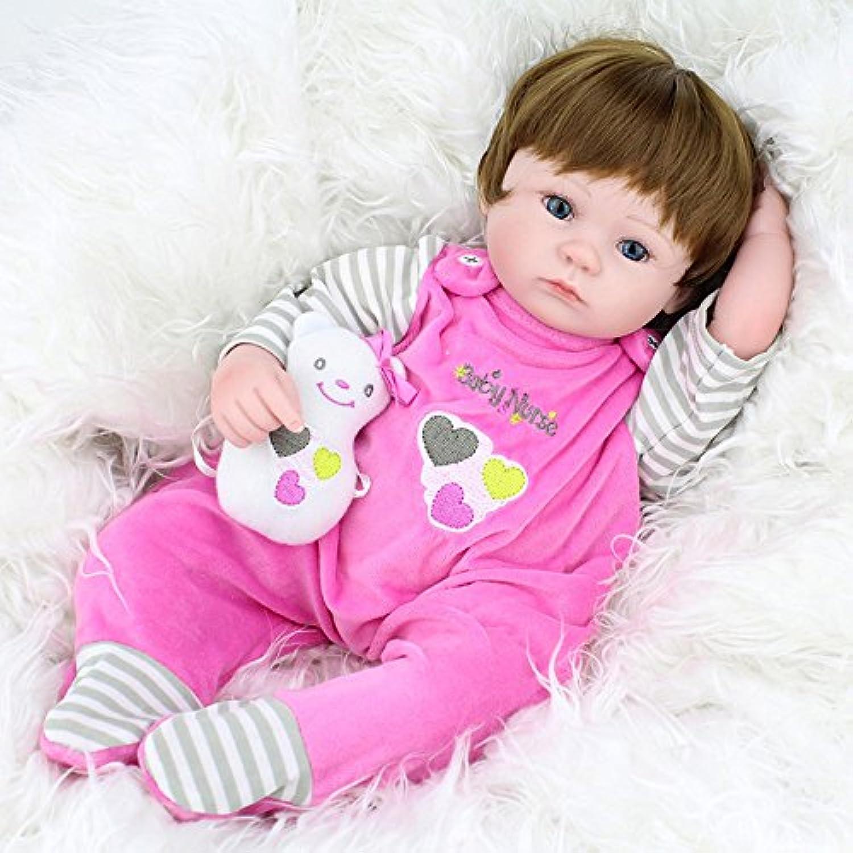 Handmade LifelikeソフトビニールRebornベビー人形シリコンGrilsフルボディ人形おもちゃギフトEyes Open