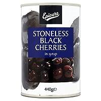 シロップ425グラムで美食家のブラックチェリー - Epicure Black Cherries In Syrup 425g [並行輸入品]