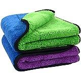 Sinland Microfiber Car Cleaning Cloths Plush Thick Car Waxing Polishing Towels Car Wash Cloths 720gsm 40CM X 60CM 2 Pack