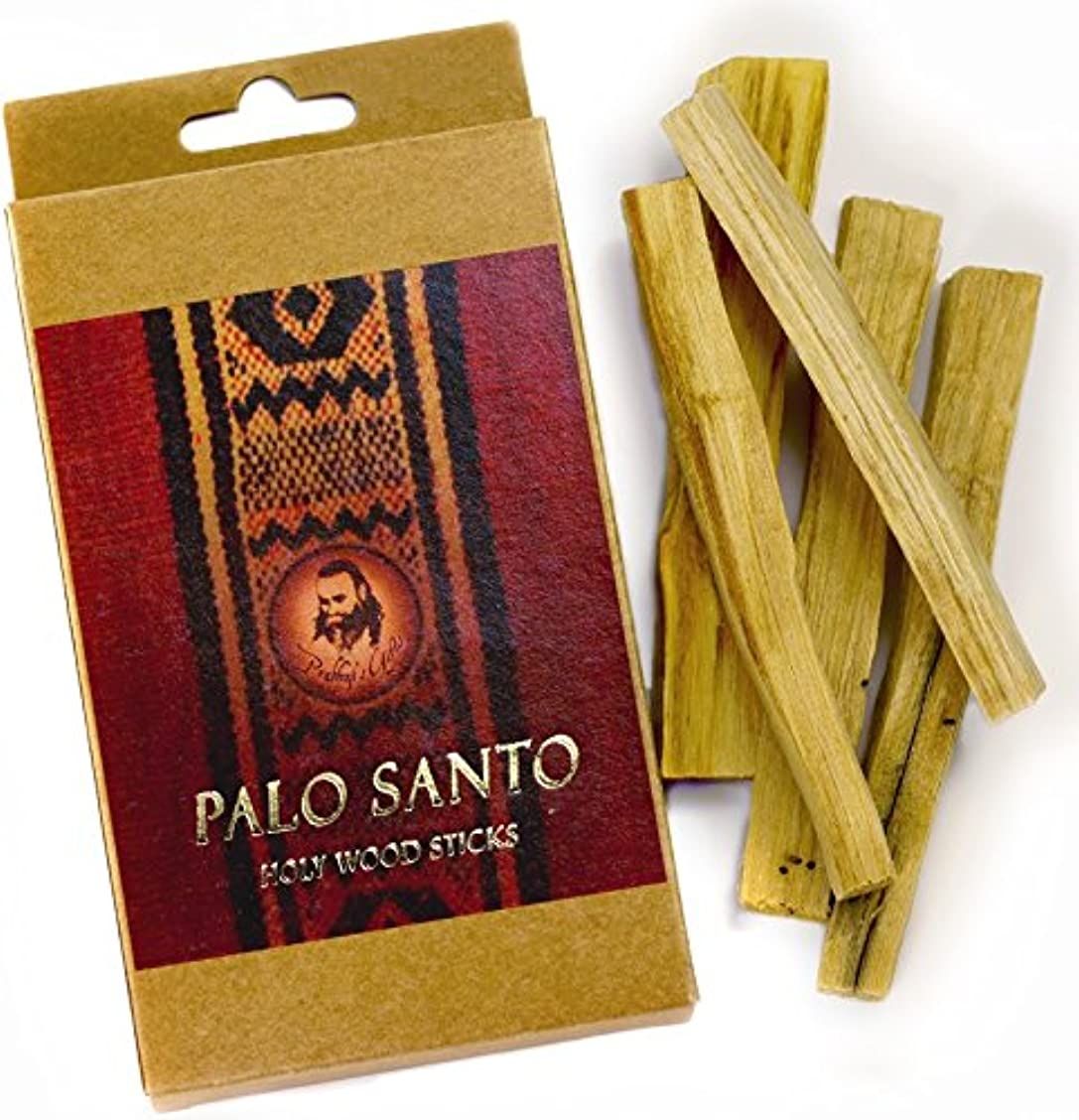 キロメートル円形の褐色Palo Santo Raw Incense木製 – 標準 – 5 Sticks