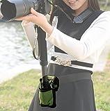 撮影 に超便利 カメラ 一脚 ホルダー 腰ベルト / 場所がなくても しっかりカメラを固定 / 撮影会 運動会 スポーツ フェス 旅行 (グリーン)