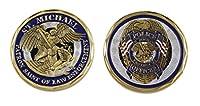 警察官 聖マイケル 法執行機関 チャレンジコイン ブルーエナメル (お得パック)