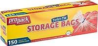 PROPACKストレージバッグ、ツイストタイ1ガロン150カウント 9712