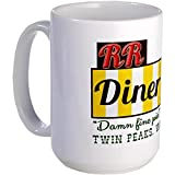 CafePress - Double RR Diner in Twin Peaks Large Mug - Coffee Mug, Large 15 oz. White Coffee Cup by CafePress