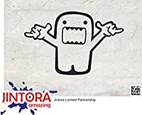 JINTORA ステッカー/カーステッカー - domo kun aloa - ドモクン・アロア - 154x99 mm - JDM/Die cut - 車/ウィンドウ/ラップトップ/ウィンドウ - 黒