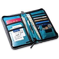 サンワダイレクト パスポートケース 13ポケット 航空券対応 トラベル オーガナイザー セキュリティポーチ Lサイズ グレー 200-BAGIN002GY