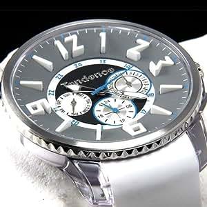 テンデンス 時計 TG165004 グレー混合文字盤 ホワイトベルト スリム ポップ TENDENCE SLIM POP マルチファンクション 腕時計 メンズ レディース