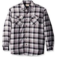 Wrangler Mens Lined Flannel Shirt Jacket Long Sleeve Button Down Shirt
