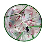 Demiawaking 子供用 ピンク花柄 可愛い ジャンボ散髪マント 散髪ケープ ファミリー理髪 折りたたみ式