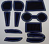 KINMEI(キンメイ) マツダ デミオ DEMIO DJ系 青 専用設計 インテリア ドアポケット マット ドリンクホルダー 滑り止め ノンスリップ 収納スペース保護k-60