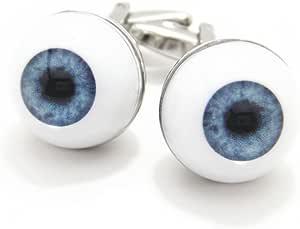 【カフスマニア】思わず目が点 ブルーの瞳の目の玉カフス(カフリンクス/カフスボタン) [ウェア&シューズ]