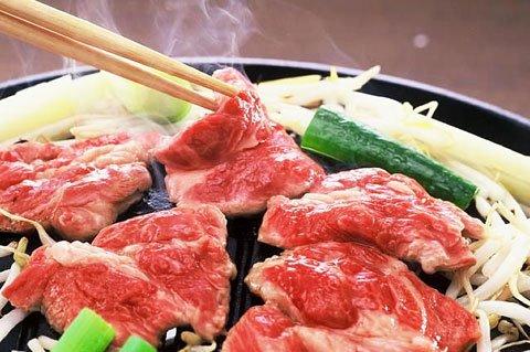 厳選生ラム肉使用 特製味付けジンギスカン 500g