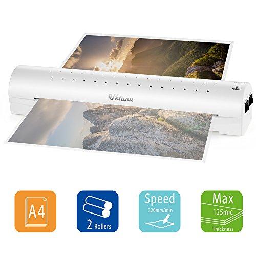 ラミネーター a3 a4対応 クイックラミ 3-4分予備時間 家庭用 オフィス用 写真 メニュー表 診察券 名刺 ホワイト 本体 ラミネートコンパクトサイズ