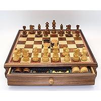 Worldwiseチェス、チェッカーセット – Lardy SheeshamとBoxwood