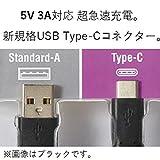 ELECOM スマートフォン用USB Type-C  ケーブル USB (A-C) 認証品 1.0m ブラック MPA-AC10NBK