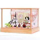 雛人形 久月 衣裳着ケース入り 親王飾り 小芥子親王 ガラスケース HNQ-66604A ケース飾り 人形の久月 ひな人形 画像