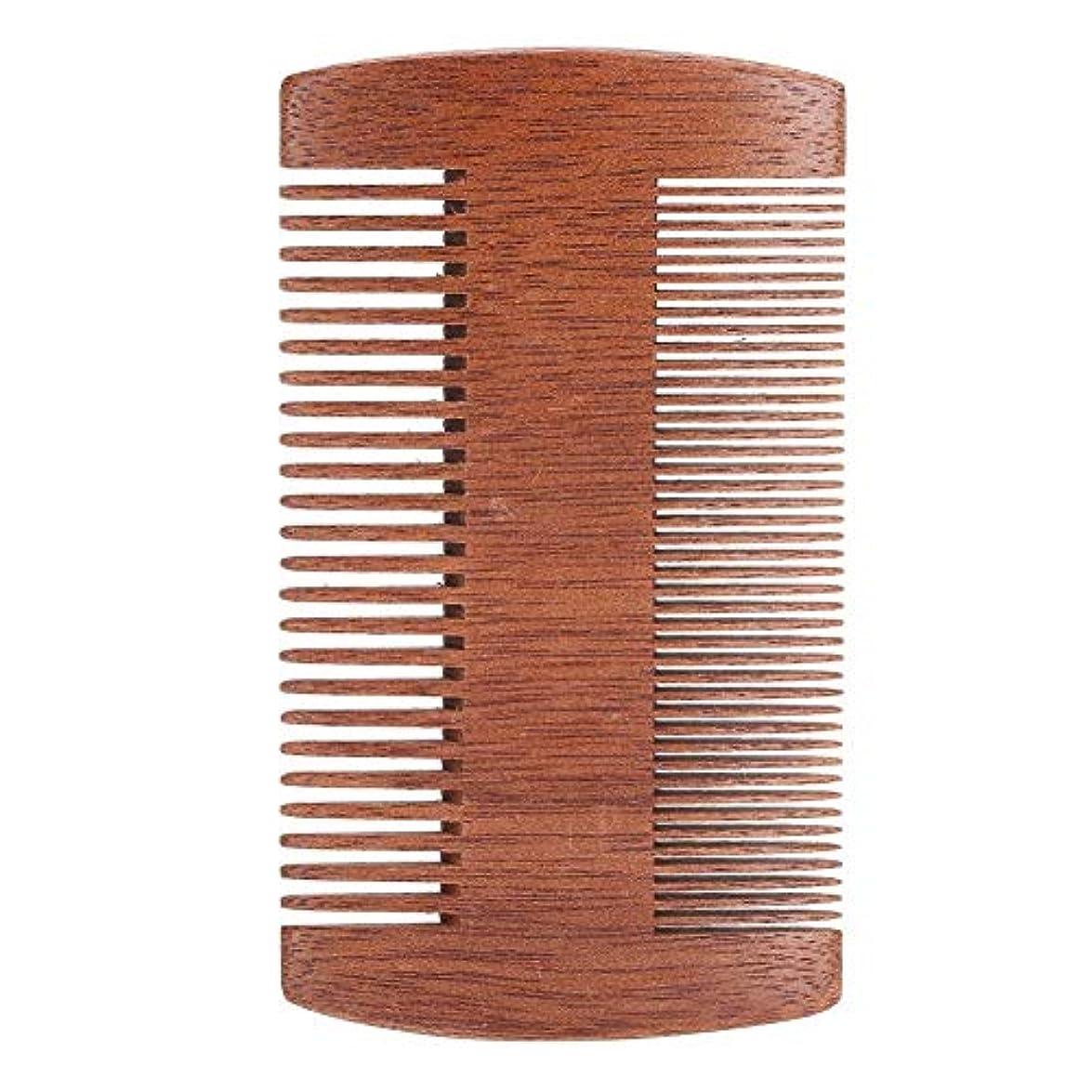 上げる思春期の構造的サンダルウッド帯電防止口ひげスタイリングくしツール